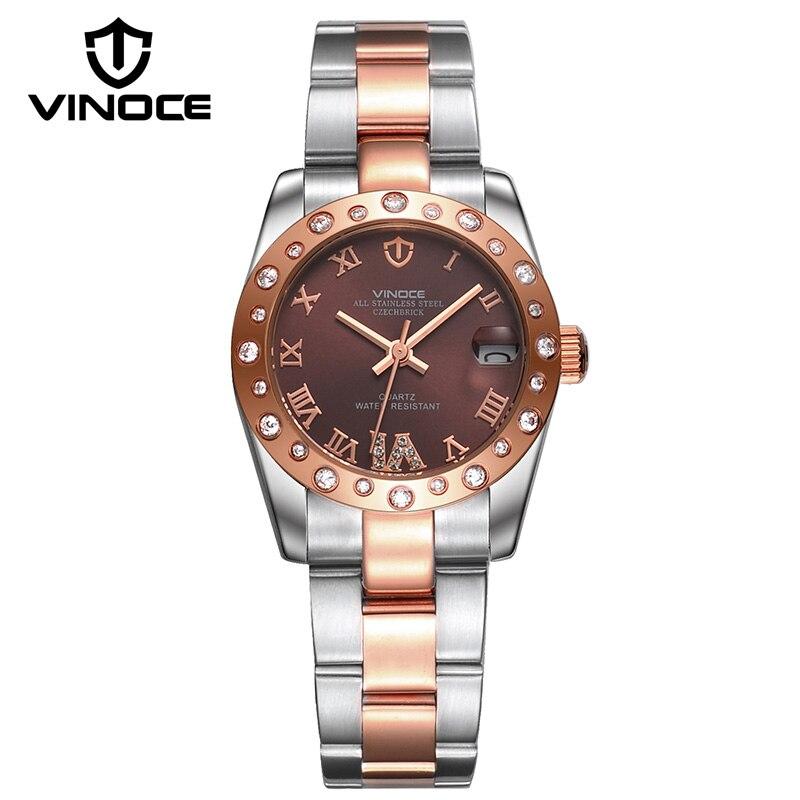 2019 marque de luxe dame cristal montre femmes montre de mode Rose or Quartz montres femme en acier montres Relojes Para Mujer