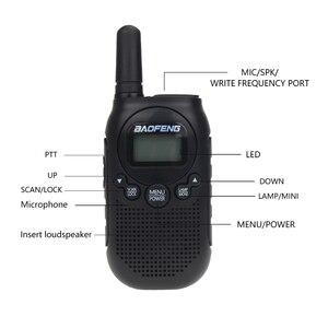Image 2 - Baofeng BF T6 ילדים מיני מכשיר קשר נייד שתי דרך רדיו 0.5W FRS PMR כף יד האינטרפון משדר רדיו comunicador
