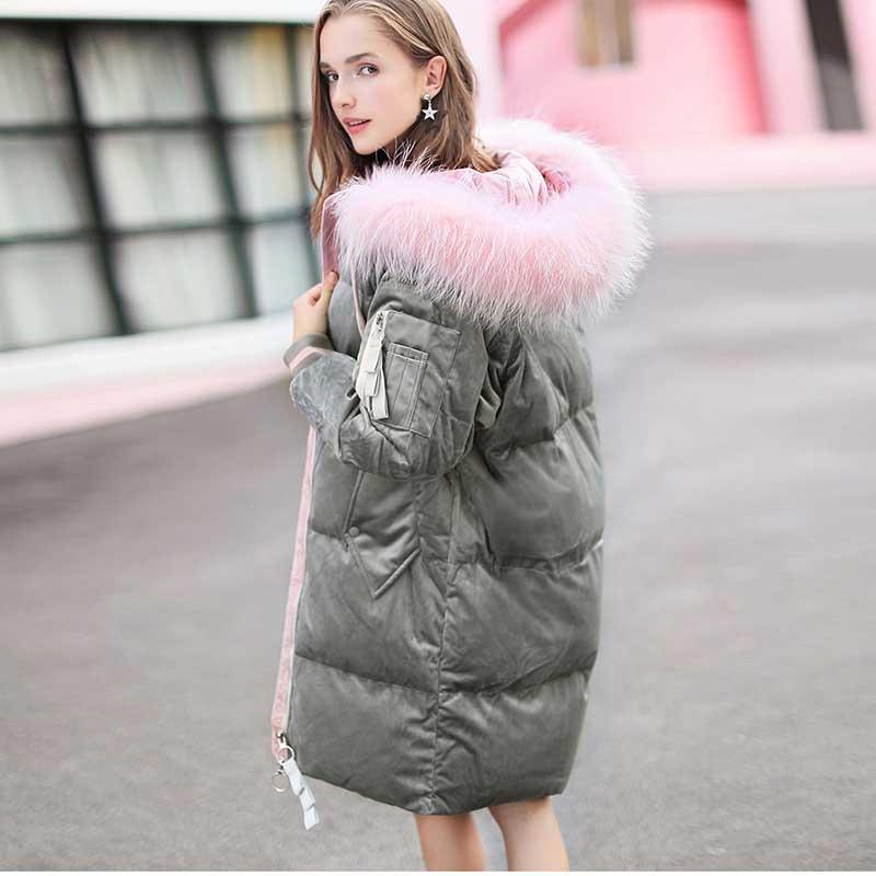 Mode Long Russes Down Neige Épais Femelle Survêtement Femmes Veste Manteau Velours D'hiver Parkas De Femme Manteaux Puffer xg4pw