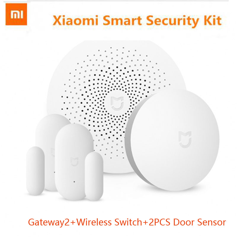 Original Xiaomi Smart Home 2017 New Arrival Mijia Gateway2, Sensor de Janela da porta Sem Fio Multifuncional Interruptor de Dispositivos Inteligentes