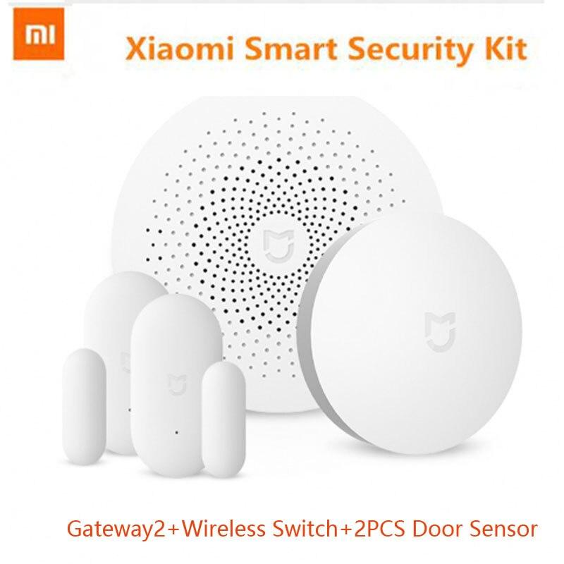 Original Xiaomi Smart Home 2017 New Arrival Mijia Gateway2 Door Window Sensor Wireless Switch Multifunctional Smart
