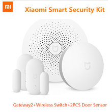 2017 Xiaomi Mi Smart Home Kit Gateway, 2pcs Door Window Sensor,  Wireless Switch Smart Devices Sets For Mi Smart Home xiaomi aqara smart home kits gateway hub door window sensor human body wireless switch humidity water sensor for apple homekit