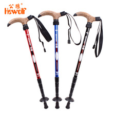 T handle Aluminium Alloy folding cane Or Alpenstock Walking Stick 110CM For Camping