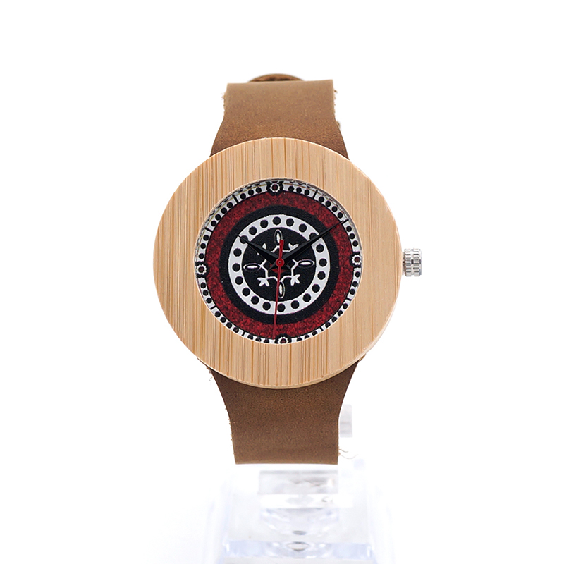 BOBO BIRD Women Watches Bamboo Genuine Leather Strap Vintage Relogio Masculino Women Watch Top Brand Luxury C-J10