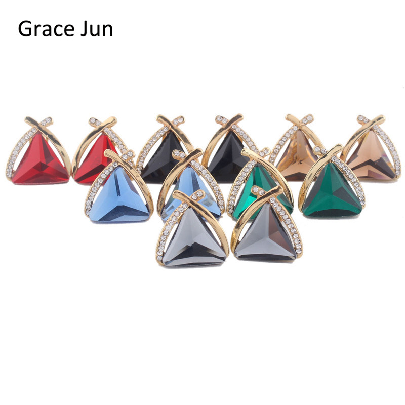 Grace Jun (TM) 6 Farge Velg Bridal Big Crystal Rhinestone Triangle - Mote smykker