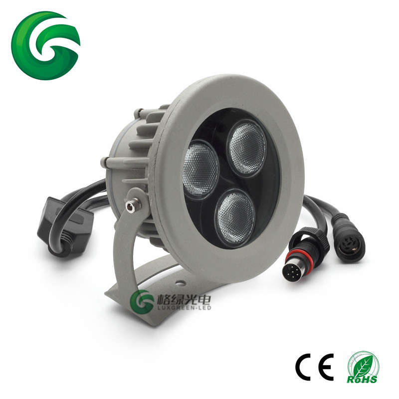 Guarranteed 100% Free DHL shipping China Factory Ip65 Aluminum 3X8W 4In1 Rgbw Garden Outdoor Lighting Led Lawn Lamp human comedy the
