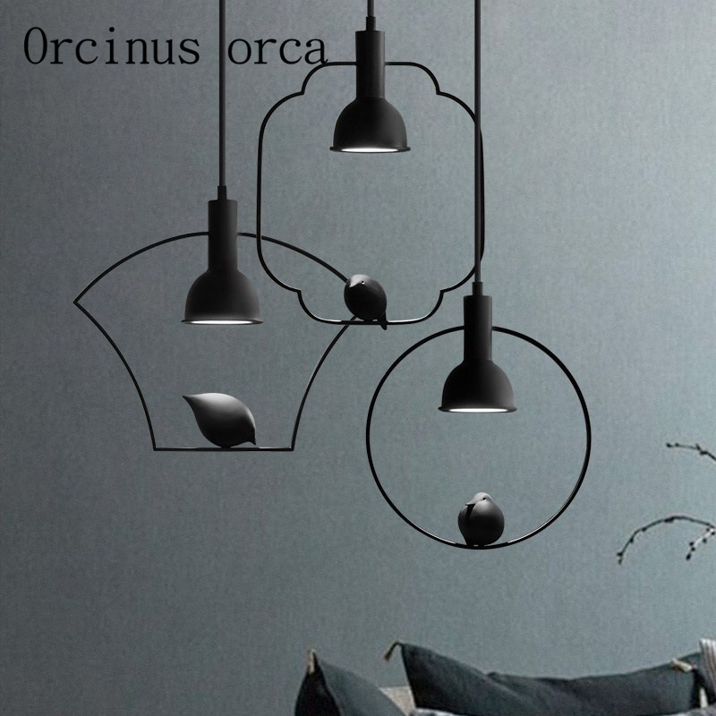 The newest Nordic modern minimalist bird chandelier restaurant bedroom lights new Chinese creative personality Chandelier