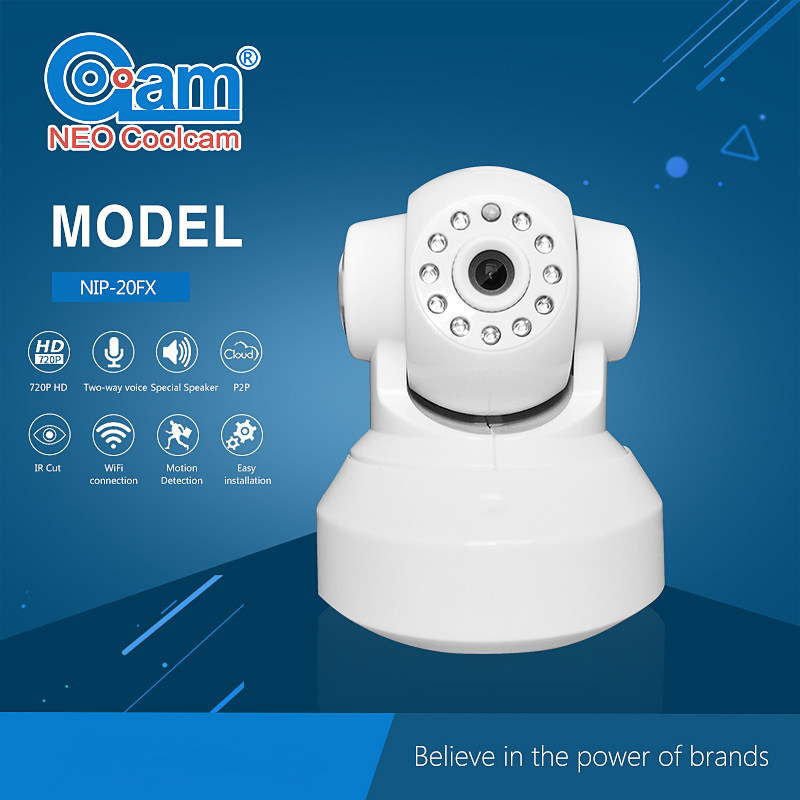 Neo Coolcam NIP-20FX 720P Camera IP Wifi IP Camera Day Night Vision Wireless HD IP Camera IOS Android APP Security Camera neo coolcam nip 02oao wireless ip camera network ir night vision cctv video security surveillance cam support iphone android