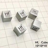 Металлический хафний куб для коллекции элементов хобби научный эксперимент 99.9% 3N 10x10x10 мм ВЧ куб для исследований и разработок