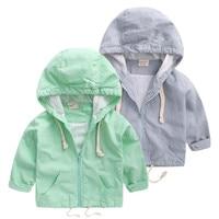 Infant Kids Boys Autumn Jacket Coat Long Sleeve Hoodie Plaid Jacket Overcoat Pocket Casual Outerwear Baby