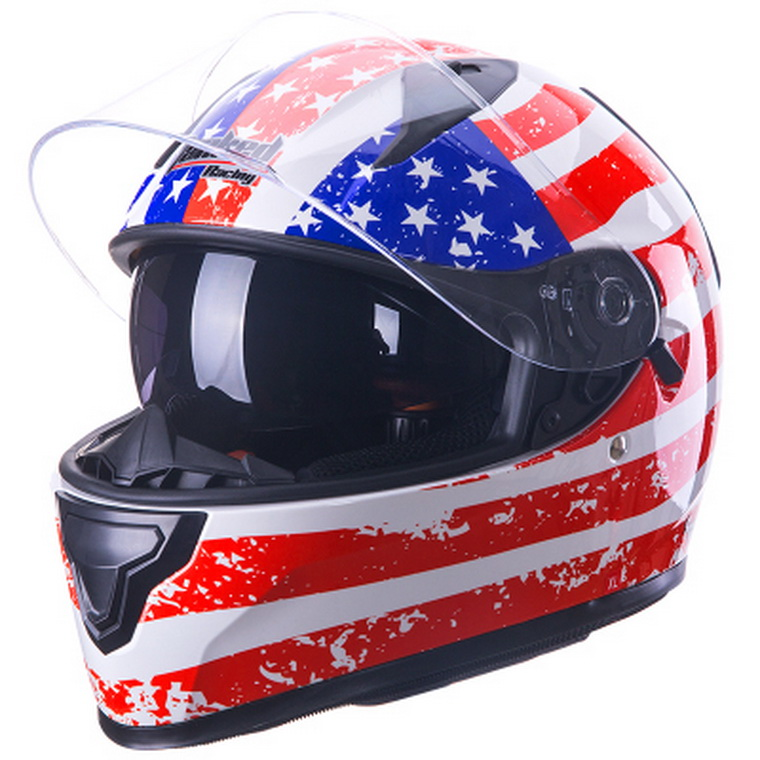 ФОТО  Tanked Racing Full face Motorcycle Helmet ABS T129 Warm Double lenses motorbike helmet with collar knight protective equipment