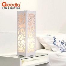 Белый Настольная лампа с лоза форме вырез современный абажур Гостиная Спальня AC110-220V стол свет