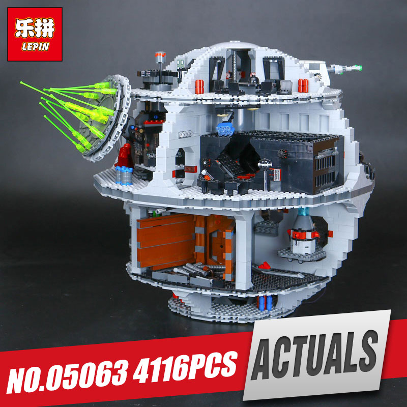 Lepin 05063 4116pcs New Genuine model Star Force set Waken UCS Educational Building Blocks Bricks War Toys 75159 for boys gift in stock lepin 05063 4116pcs 05035 3804pcs star force waken ucs death wars model building blocks bricks toys gifts 75159 10188