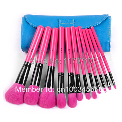 FREE SHIPPING! Best Quality Goat Hair Professional Makeup Brush Set 12PCS/Set Including a Deluxe Leather Bag! best new product on sale 30% 750ml brazilian keratin hair treatment hair free shipping