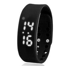 Smart Digital Наручные Часы Шагомер Спортивные Часы Браслет Мужской и Женский Температуры Студентов USB Часы