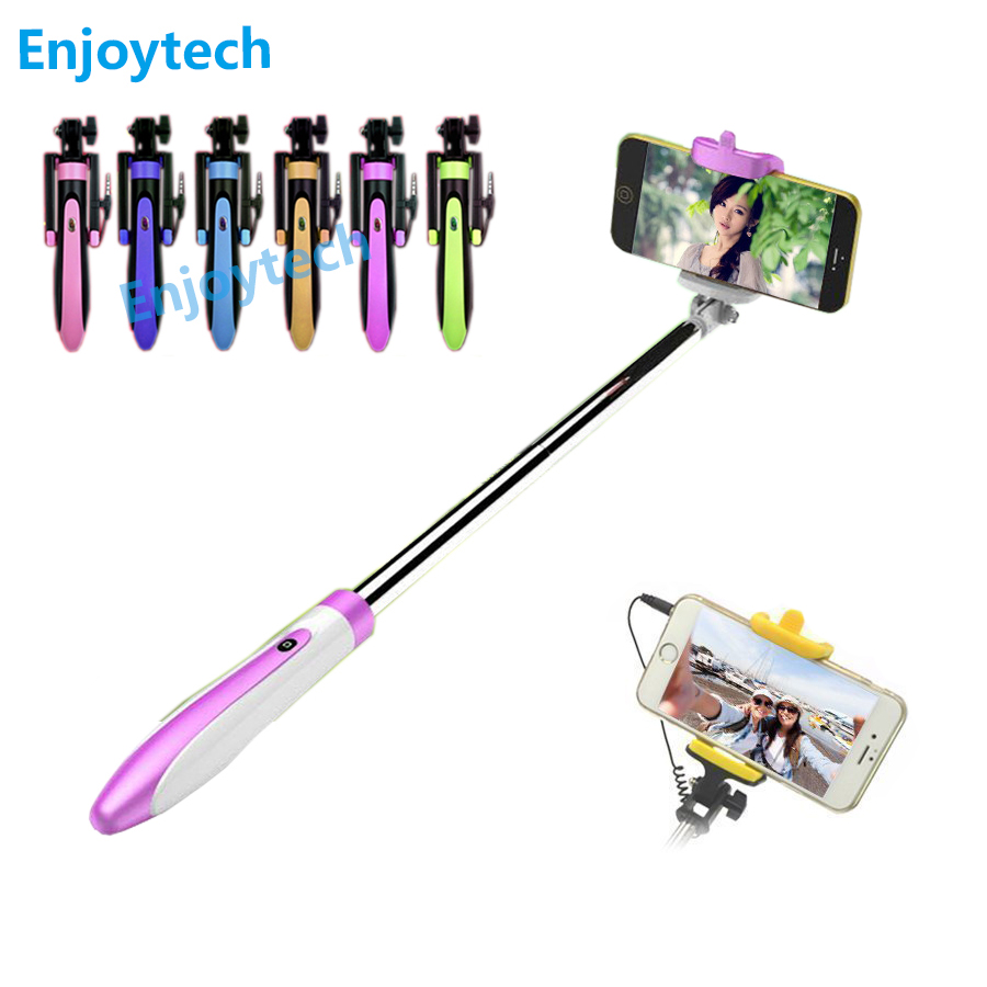 Nový příjezd mini wired selfie stick 20cm-68cm rozšiřitelný monopod pro iphone5 6 / 6s samsung huawei xiaomi meizu 4-6inch telefony