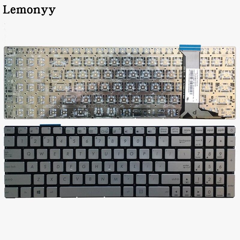 US Silver Laptop Keyboard For ASUS GL752 GL752V GL752VL GL752VW GL752VWM ZX70 ZX70VW G58 G58JM G58JW G58VW