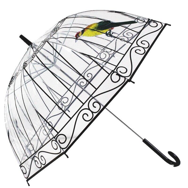 Transparenter Kunststoff Klar PVC Regenschirm Regen kreativer - Haushaltswaren - Foto 1