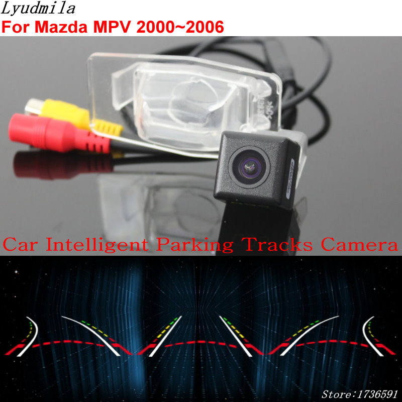 Lyudmila Car Intelligent Parking Tracks Camera FOR Mazda MPV 2000~2006 / Car Back up Reverse Rear View Camera
