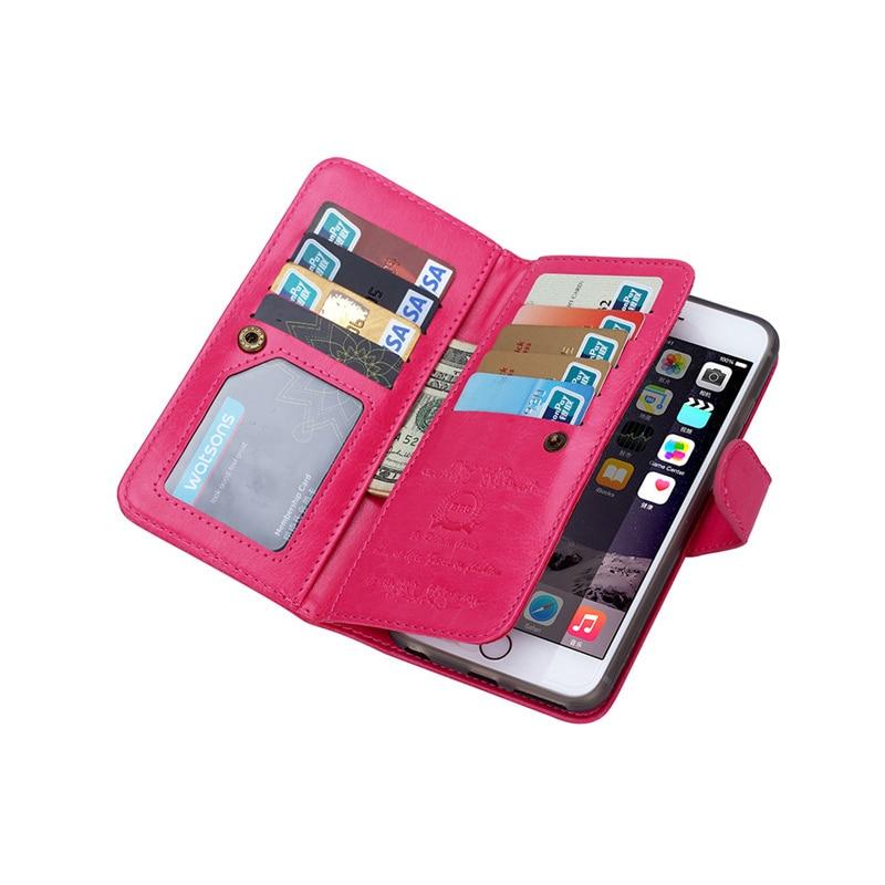För iphone 6 6S 6 S Plus Fodral Lyxig plånbok Läder Flip Cover - Reservdelar och tillbehör för mobiltelefoner - Foto 5