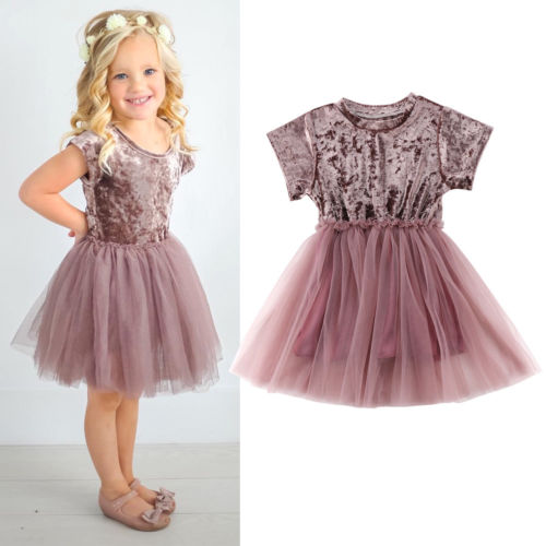 Kids Baby Girls Clothes Velvet Tutu Lace Dress Ruffles Tiered Cute Toddler Baby Princess Party Tulle Dresses 2018 New 6M-5T ems dhl free shipping new v neck baby girls kids sequin dress tulle dress with ruffles 5 colors princess dress casual wear