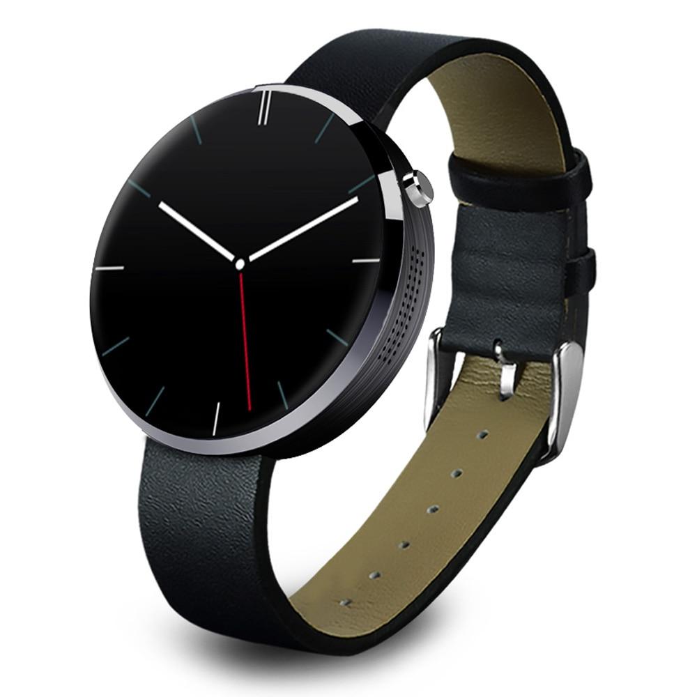 New M360 Bluetooth Smart Watch 1.22 Heart Rate Pedometer Anti-lost Handfree Mic Speaker Wristwatch for IOS Android PK Dz09 GT08 2016 bluetooth smart watch gt08 for