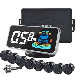Image 5 - Parking Sensor Parktronic 8 Sensors  Auto Detector Backing Assistance Kit Voice Buzzer Car Automobile Reversing Radar 21.3mm