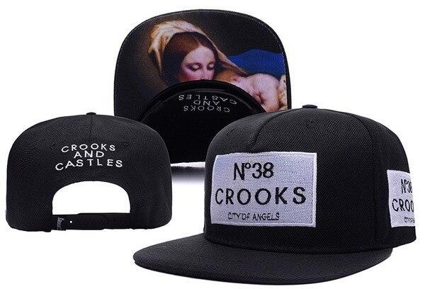 N38 Crooks   Castles Snapback Hat Black Snapbacks City of Angels Snap Back  Cap Summer Ball Caps Hip Hop Cap Sports Caps ff8ff4dc842e