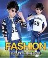 Новый век дети дети хлопок брюки костюм Мальчиков Джинсы из двух частей девочка мальчик одежды