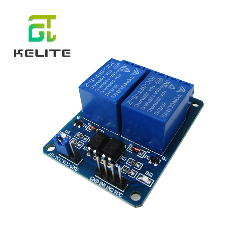 HAILANGNIAO 1PCS/LOT 5V 2-Channel Relay Module Shield  ARM PIC AVR DSP Electronic 2 Channel Relay Module New