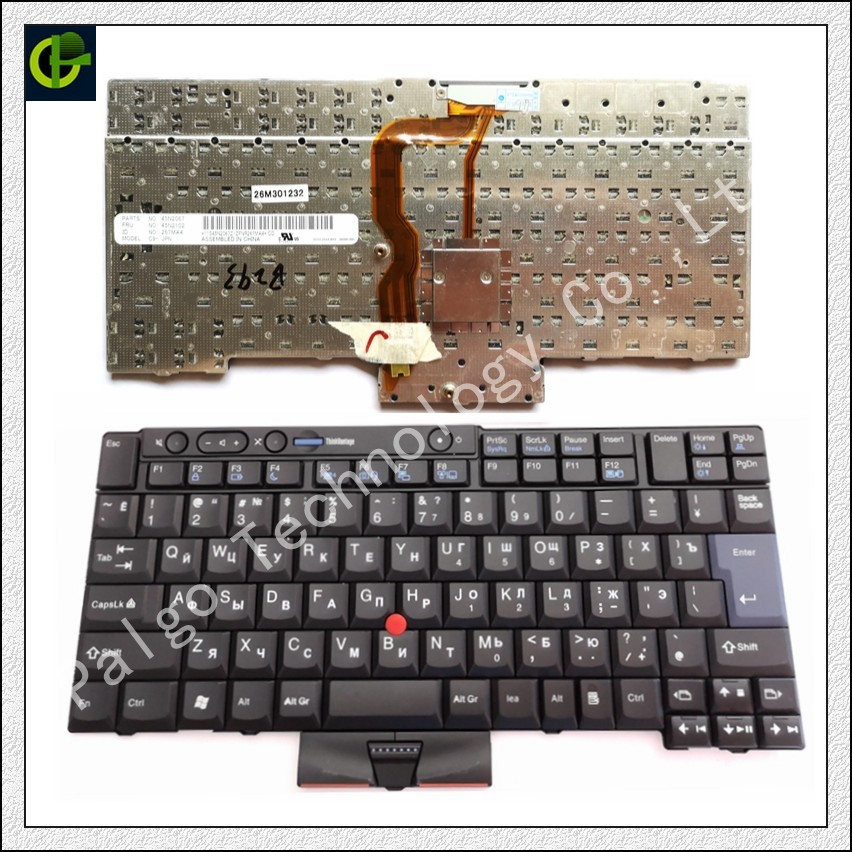 Russian Keyboard for IBM LENOVO Thinkpad T410 T420 X220 T510 T510i T520 T520i W510 W520 T400S T410I T420I X220i T410S T420S RU new oirginal for lenovo thinkpad t520 t520i w520 palmrest keyboard bezel 04w1365 04w1366 04x3735