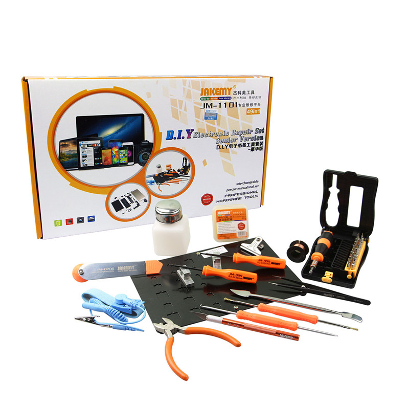 JAKEMY JM-1101 49in1 Soldering Welding Tools Screwdriver kit platform Electronic Repairing Tool kit Screw driver