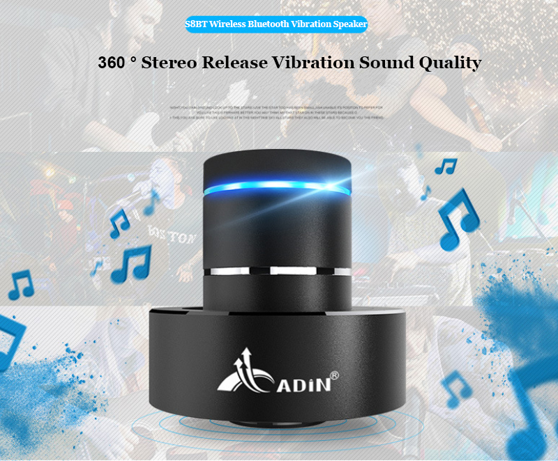 ADIN Metal 26W Vibration Bluetooth Speaker With NFC Touch HIFI Subwoofer And 360 Stereo Super Bass 8