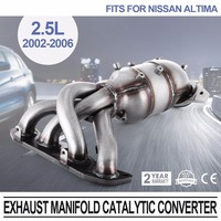 Nissan Altima Exhaust Manifold Front Catalytic Converter 2.5L Gaskets & Hardware