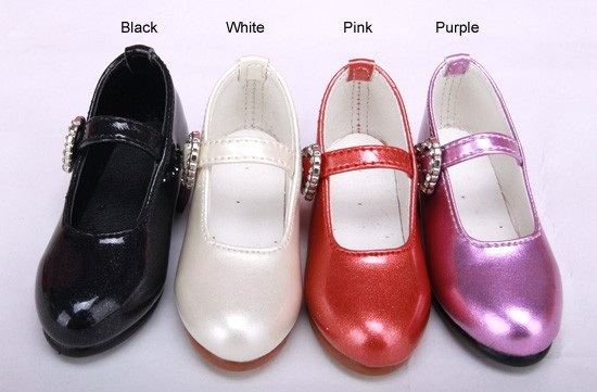 1/3 1/4 Women's Girl SD AOD DOD BJD MSD Dollfie Synthetic Leather Pu Shoes Black  White Pink Shoes YG329