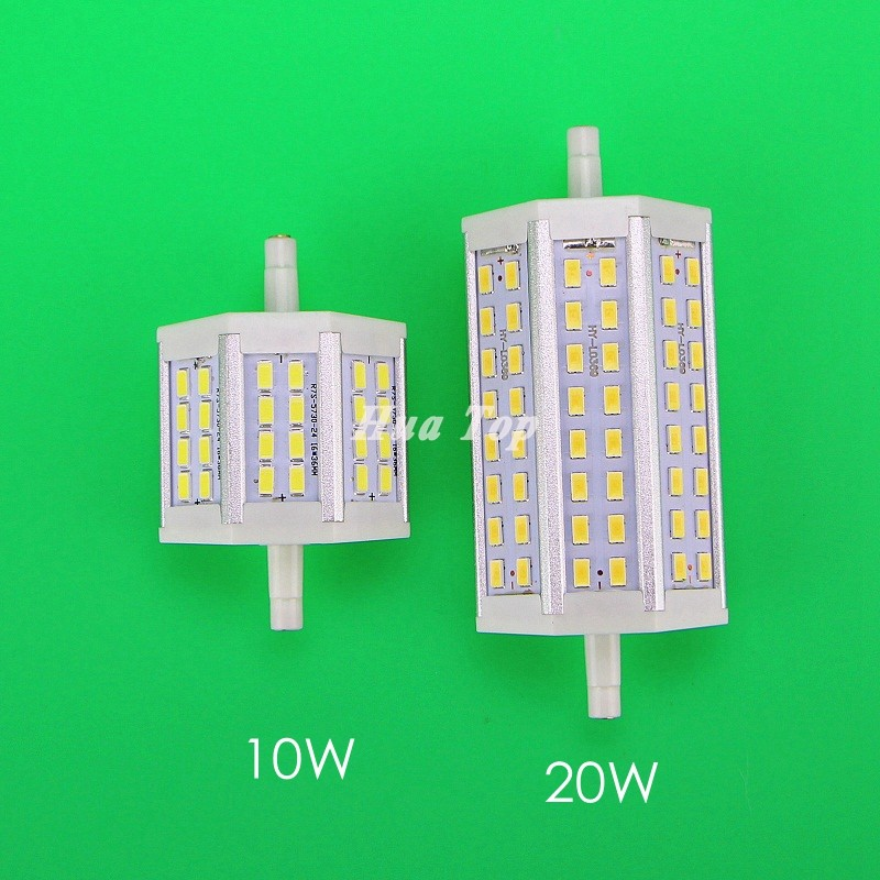 1pcs dimmable r7s led lamp 10w 20w epistar smd 5730 led for Led r7s 78mm 20w