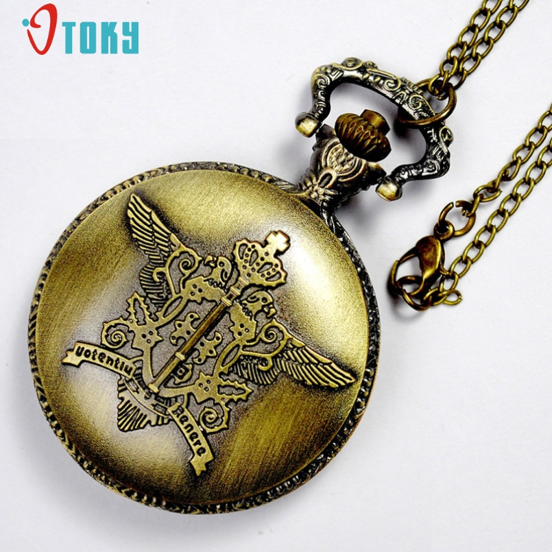 Excellent Quality Retro Magic Wand Pendant Classic Witchcraft And Wizardry Bronze Pocket Watch Men Women Children Watches Jan-05