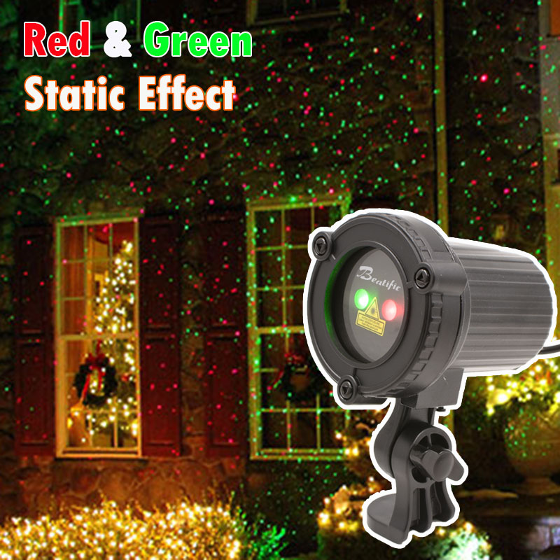 Outdoor Christmas Star Laser Lights Projector Showers Christmas Tree Home Decorations Red Green Static Effect christmas tree star print tapestry wall hanging art%2