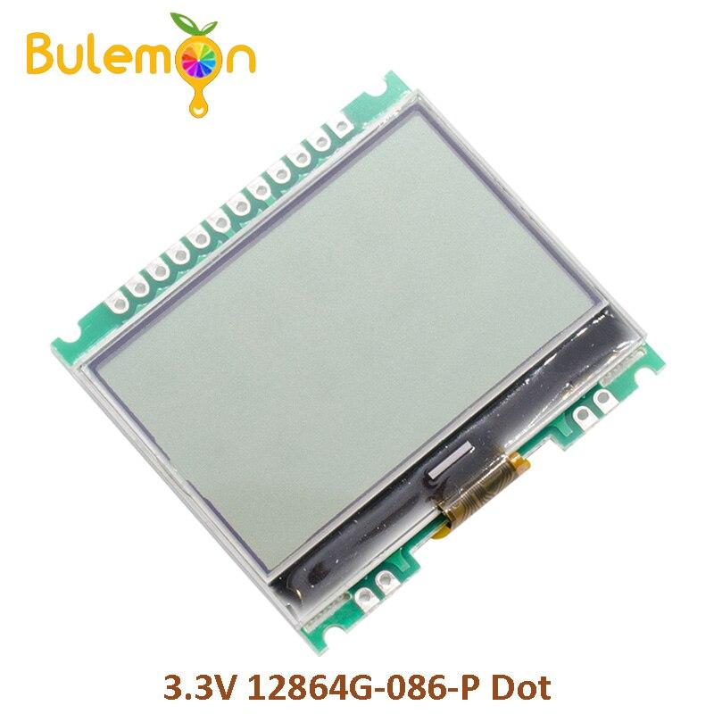 2 unids/lote 3,3 V 12864G-086-P punto Módulo de matriz 12864 LCD Módulo de pantalla con retroiluminación COG Kit de alarma para cocina, DETECTOR de GAS por voz, alarma independiente para la UE, pantalla LCD Natural, SENSOR de fugas de GAS con alarma