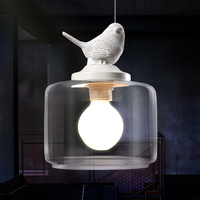 Contemporary And Contracted Creative Chandelier Pendant Lamp Retro Art Glass Suspension Luminaire Cafe Restaurant Study Lamps