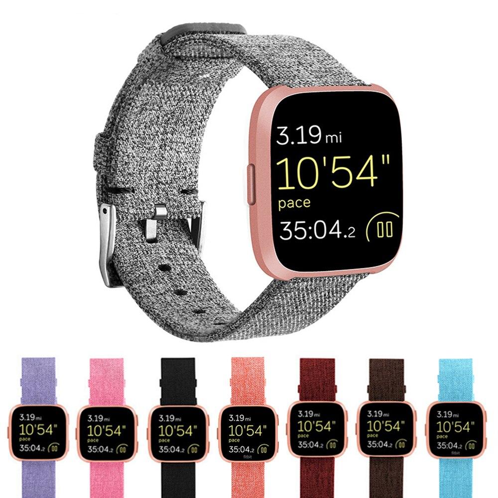 Durevole Moda In Tessuto di Nylon di Ricambio Wristband Braccialetti Da Polso Watch Band Strap Accessori per Fitbit Versa Sport Smartband