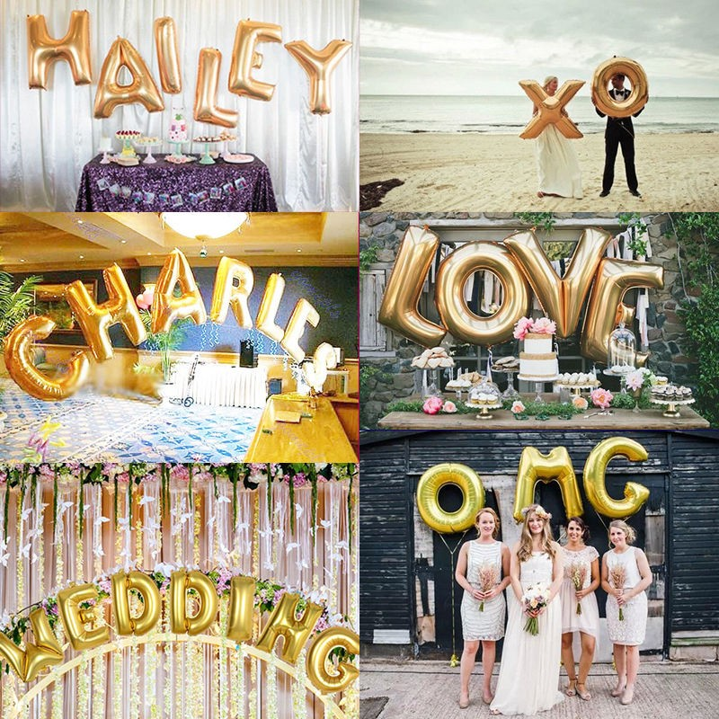 1 piece 16 inch gold foil letter balloons hot alphabet a z for new year birthday party wedding decoration household in event party from home garden on