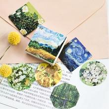 45Pcs/box Vintage Van Gogh's Paintings Sticker Scrapbooking Creative DIY Bullet Journal Decorative Adhesive Labels Stationery цена