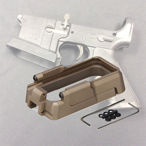 New Tactical Black Tan Color CNC Metal Adaptive Magwell For Hunting Shooting Hunting Accessory HS33 0110