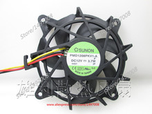 Free Shipping For SUNON PMD1208PKV1-A F DC 12V 3.7w 3-wire 50mm 80x80x20mm Server Round Cooling fan