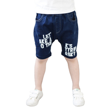 Summer Shorts Denim Summer Classic Boy Pants Jeans Boys Blue Elastic Soft Leggings Kids Children Clothing Baby Clothes Trousers