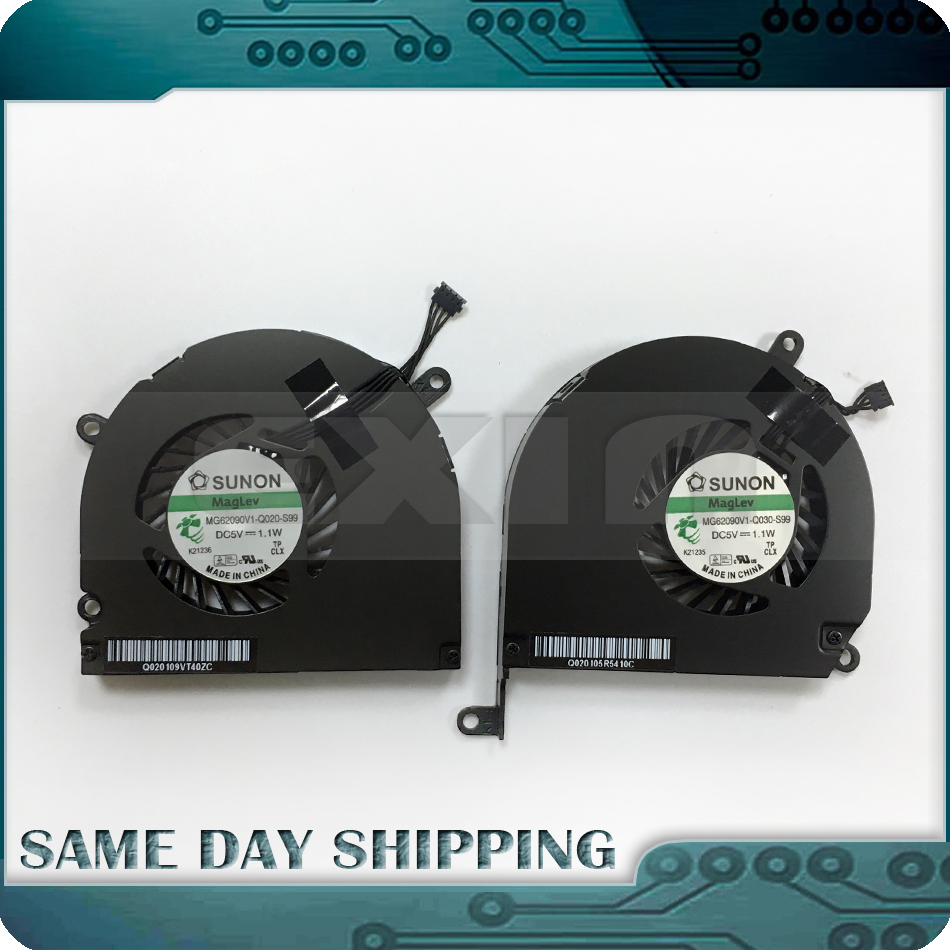 купить New!!! A1286 Left Right Side CPU Cooling Fan for Apple MacBook Pro 15 A1286 CPU Fan Set 2008 2009 2010 2011 2012 Years онлайн
