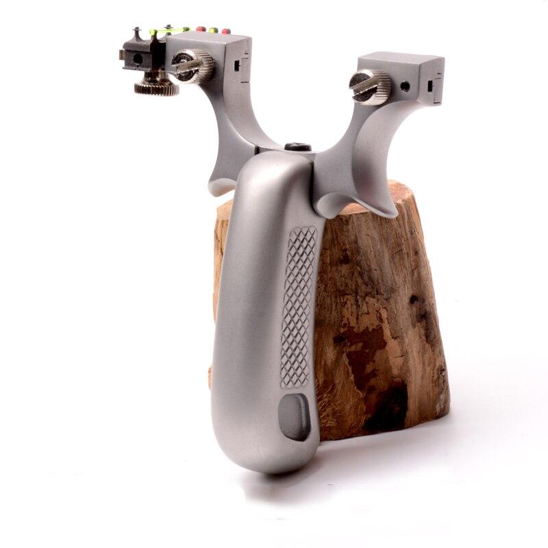 Hunting Catapult Bow Slingshot Sighting Slingshot Portable Outdoors 2 Rubber Band
