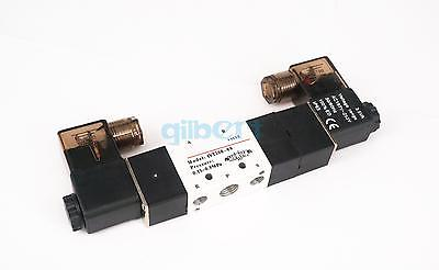 Pneumatic Solenoid Valve 3 position 5 way BSPT1/4 Central Exhaust 4V230E-08 5 way pilot solenoid valve sy3220 4g 02