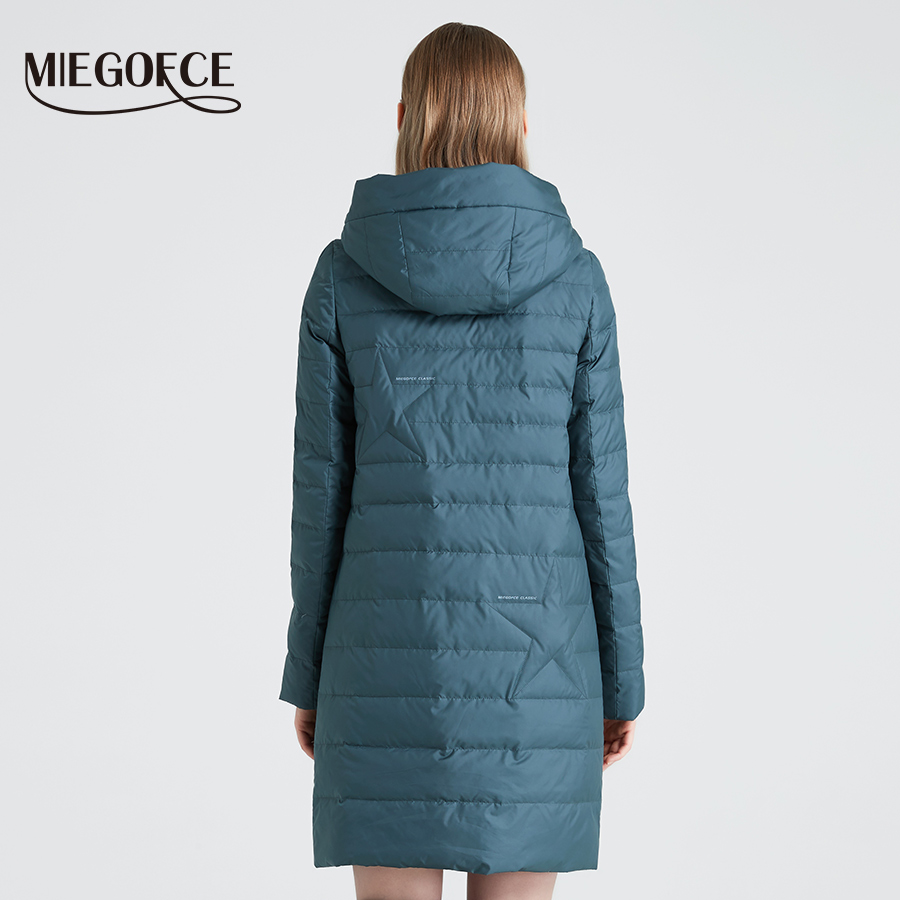 Image 4 - MIEGOFCE 2019 Spring and Autumn Women's Coat Cotton Windproof Hat Women Windbreaker Fashion Thin Section Female Coat New Design-in Parkas from Women's Clothing